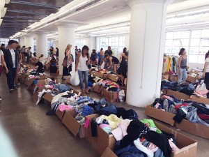 hanhgry.com   Wildfox Couture sample sale room