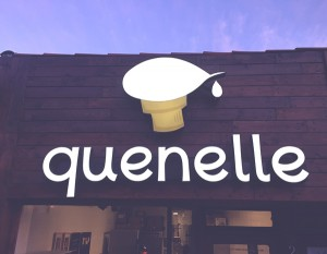 Hanhgry.com | Quenelle ice cream shop sign in Burbank
