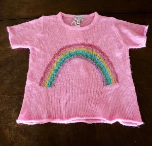 hanhgry.com | Wildfox Kids white label rainbow sweater