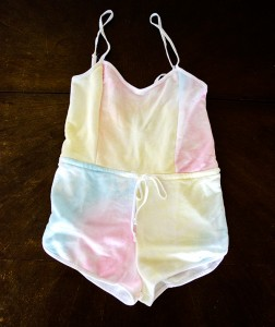 hanhgry.com | Wildfox Couture Dream tie-dye romper swim coverup