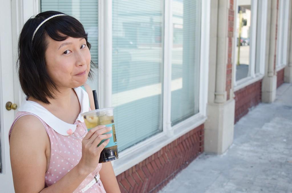 hanhgry.com | lychee green tea boba