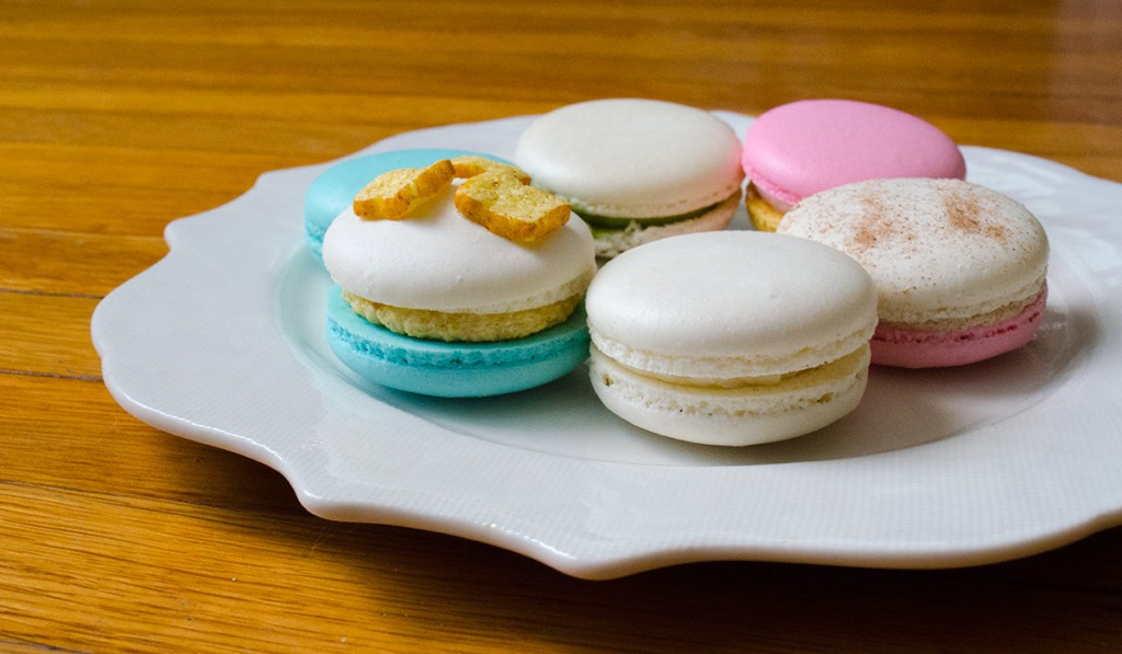 hanhgry.com | Honey & Butter macarons on a plate