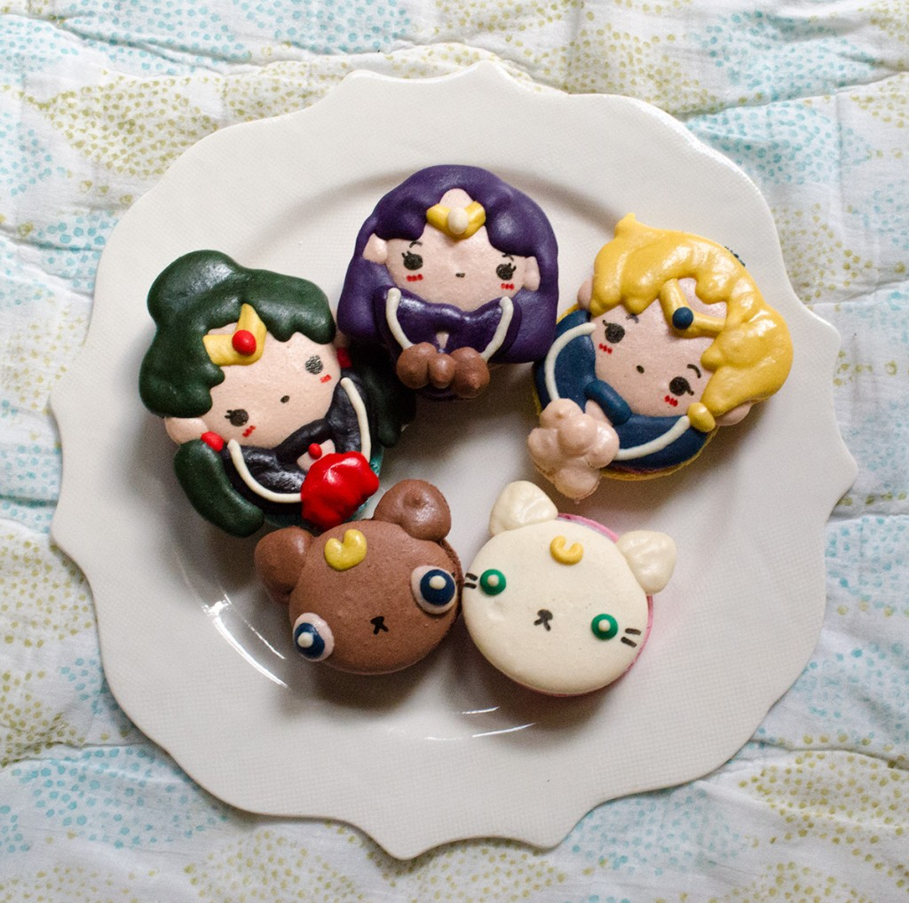 hanhgry.com | Sailor Moon themed macarons from Honey & Butter