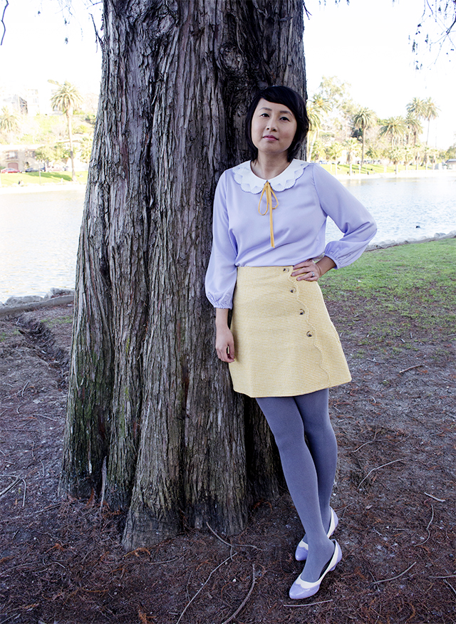 hanhgry.com| outfit: miss patina blouse and skirt by the lake
