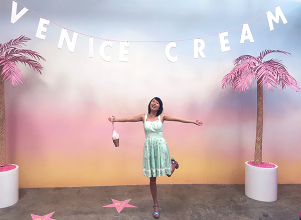 hanhgry.com: museum of ice cream venice cream backdrop
