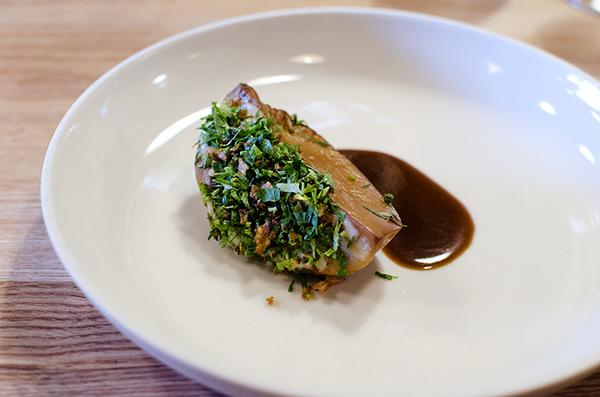 Farm Spirit: Abalone, onion, herbs, spruce