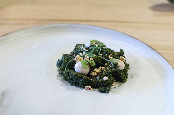 Farm Spirit: Nettle cake, elderberry, hazulenuts, mint, red sorrel